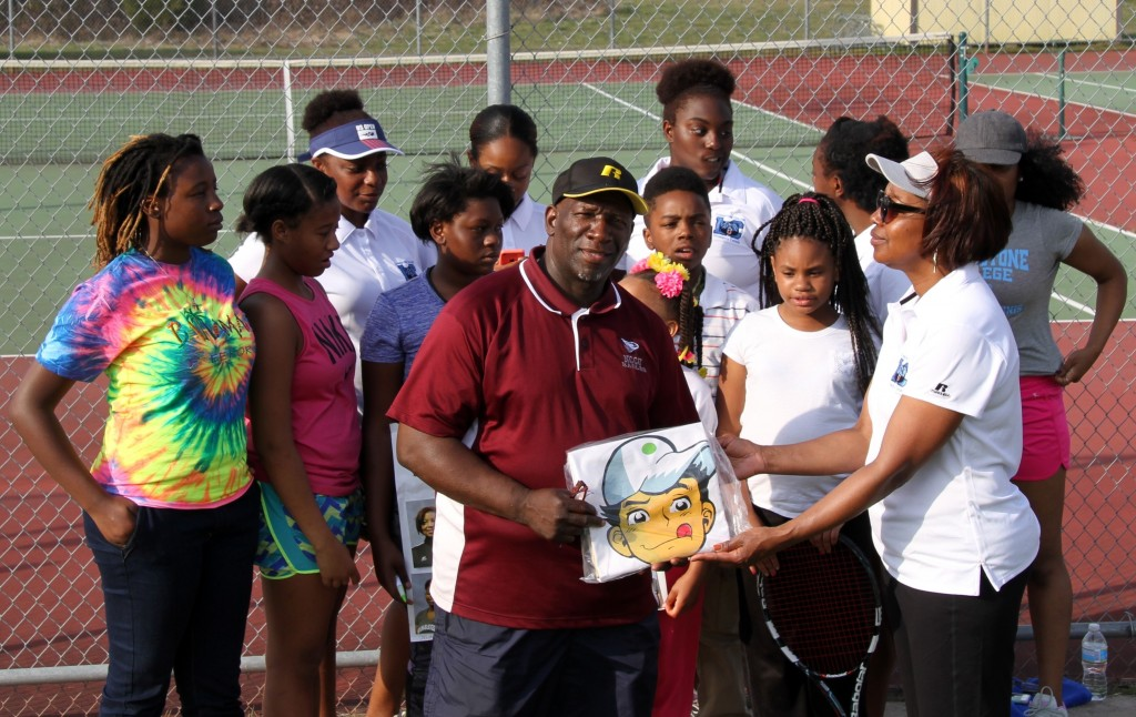 HOLLA! Eagles Tennis Team Finds A Friend/Mentor At Livingstone College